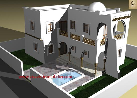 Logement tunisie les annonces immobilier en tunisie for Villa avec jardin tunisie